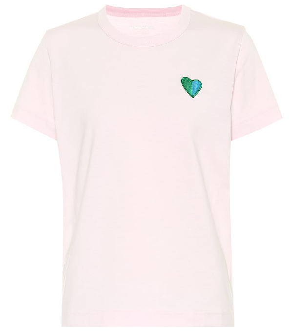 Tory Sport Vintage Cotton Heart Tee In Pink