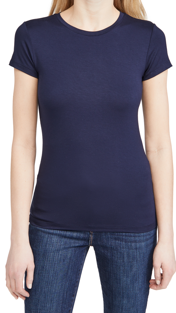 L Agence Women's Ressi Crewneck Tee In Midnight