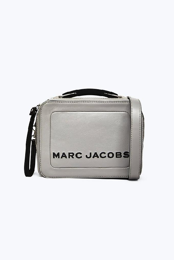 08a7e14c17db Marc Jacobs The Box 20 Leather Crossbody Bag - Grey