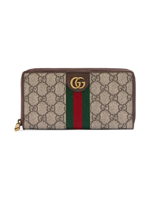 917bf5491a172f Gucci Zip Around Wallet With Three Little Pigs In Neutrals | ModeSens