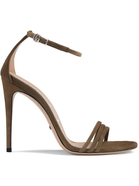Gucci Suede Sandal In Brown