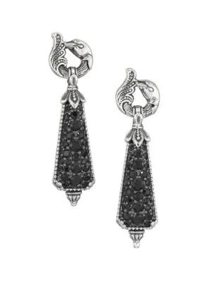 Konstantino Circe Sterling Silver & Black Spinel Drop Earrings