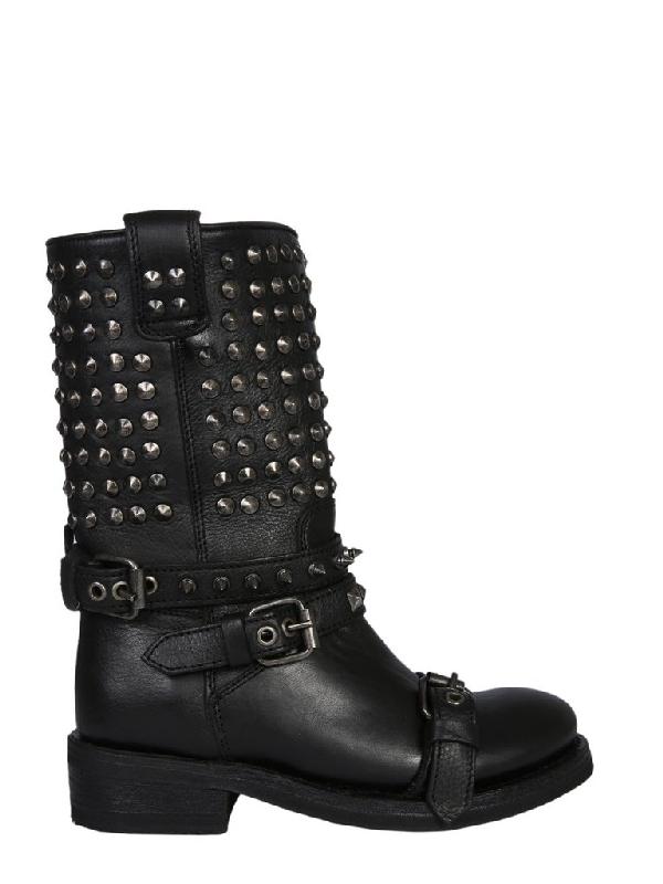 Ash Camperos Alto Troop Boots In Black