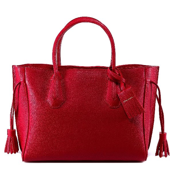 b0a5a0833 Longchamp Penelope M Tote Bag In Red   ModeSens