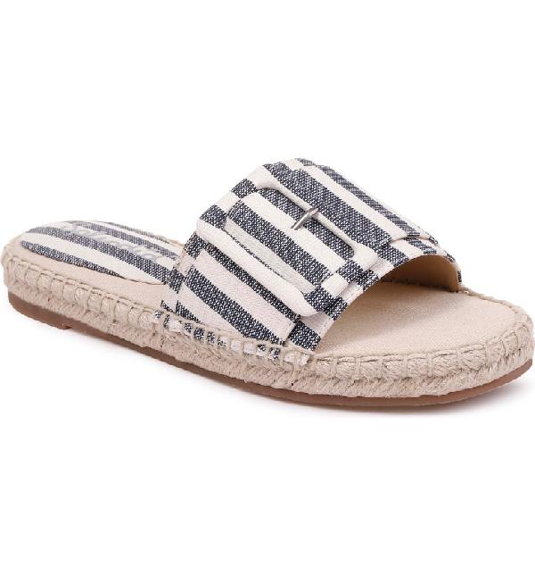 d26c4dfa51a9 Splendid Women s Simpson Buckled Espadrille Slide Sandals In Navy  Natural  Fabric
