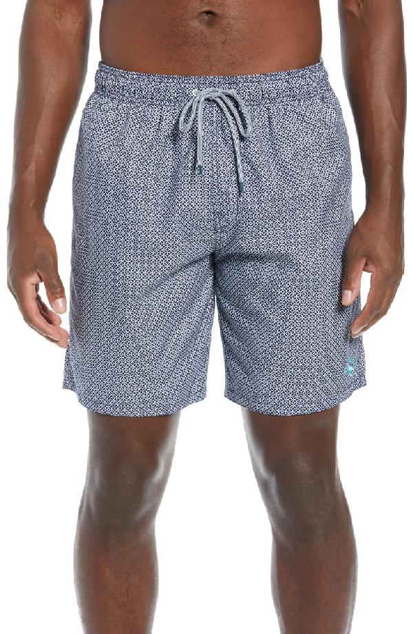 3a2ec8dde4 Ted Baker Alantic Geo Print Midi Swim Shorts In Navy | ModeSens