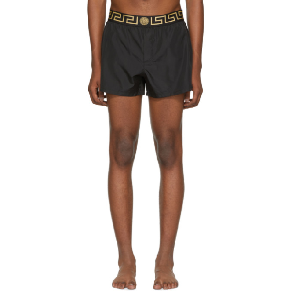68c842d89c1e8 Versace Black Greek Key Medusa Swim Shorts In A80G Black   ModeSens