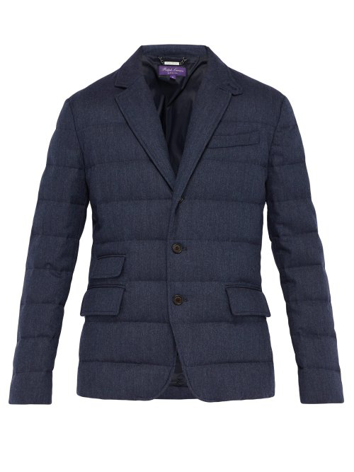 Ralph Lauren Windheim Single-Breasted Quilted Coat In Navy