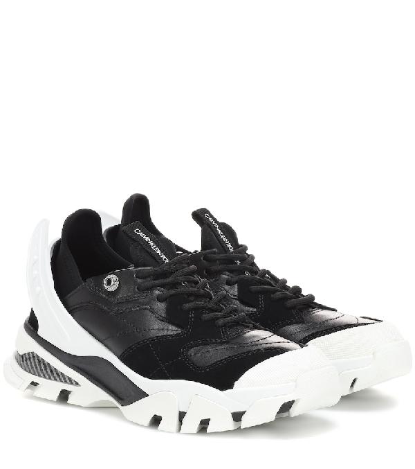 de0d54b7500 Calvin Klein 205W39Nyc Black   White Carla Sneakers