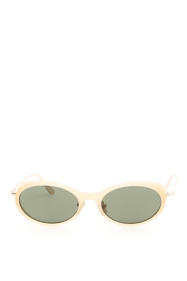 Self-portrait Ansley Sunglasses In Taupe Gold (beige)