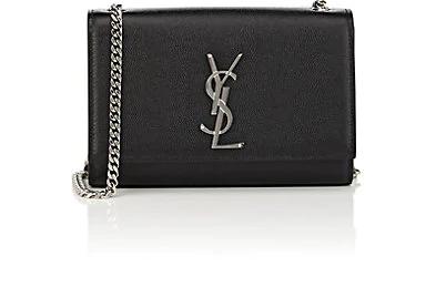 Saint Laurent Small Kate Grained Leather Crossbody Bag - Black
