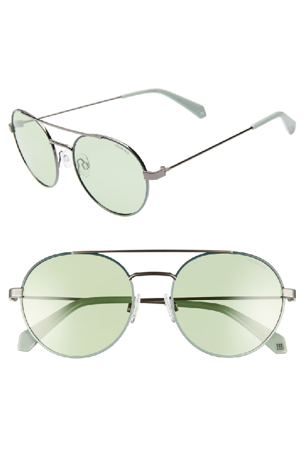 057d39f4e Polaroid Round 55Mm Polarized Sunglasses - Green | ModeSens