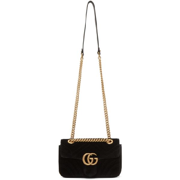 c4e4c252825244 Gucci Black Velvet Mini Gg Marmont 2.0 Bag In 1000 Black | ModeSens