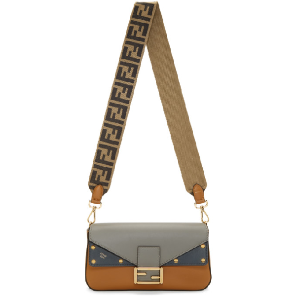 a07f1f6e15ec FENDI. Grey   Tan  Forever Fendi  Baguette Bag in F15Sa Hazel.  2095 2095.  Available From 1 Store