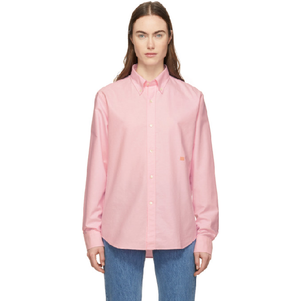 Acne Studios Buttoned-back Shirt In Pink