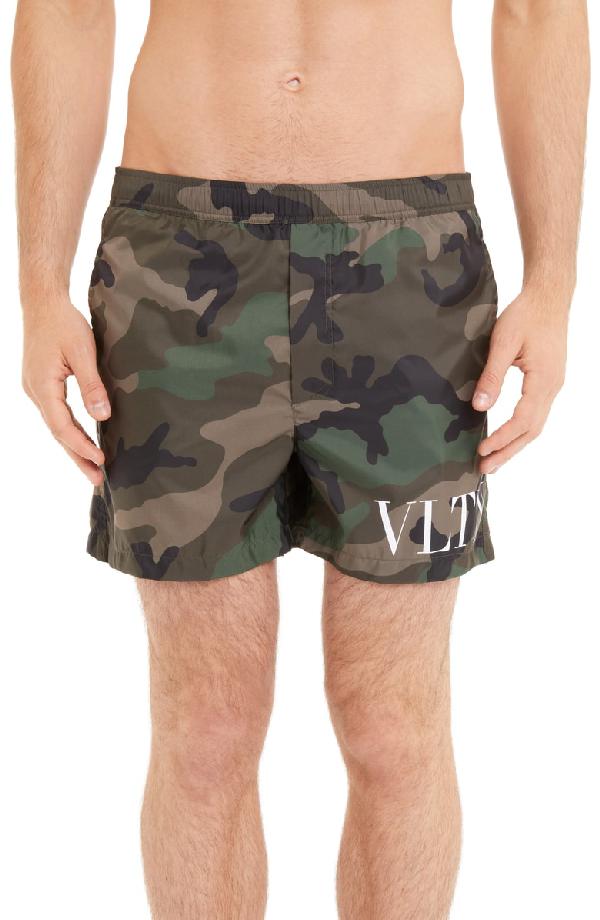 b57287f16c Valentino Vltn Camo Swim Trunks In Camou Army | ModeSens