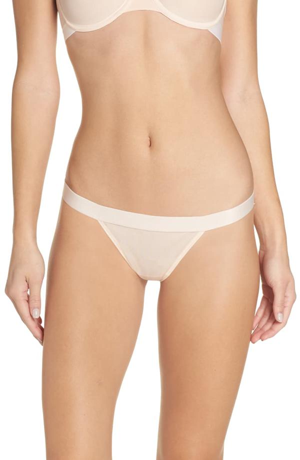 Negative Underwear Sieve Thong In Peach
