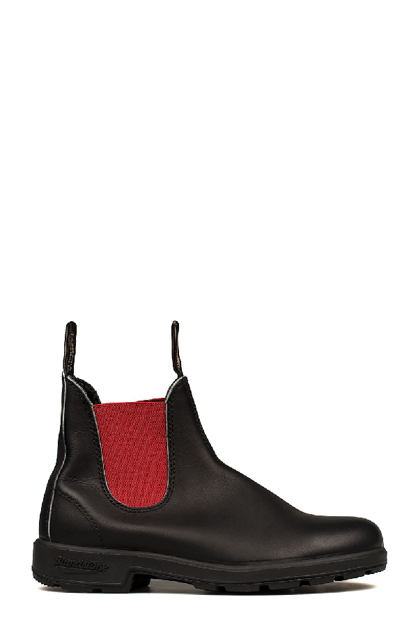 Blundstone Black Red Leather Low Boot In Basic Modesens