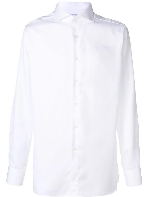 c9f702b4d99f Xacus Plain Button Down Shirt In White
