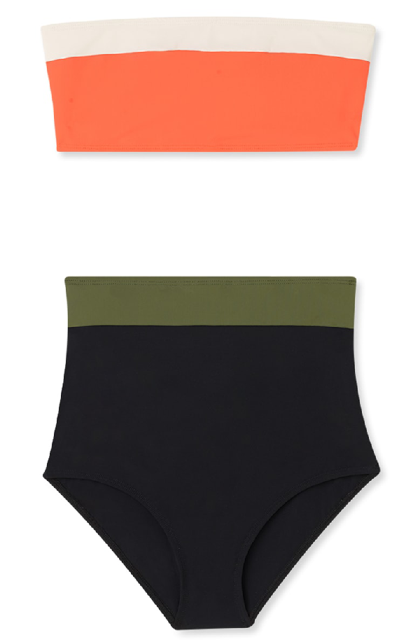 c26655c42b4 Flagpole Arden High Waist Bikini Bottoms In Black/ Olive   ModeSens