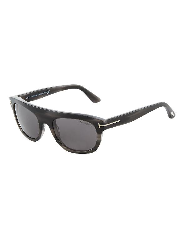 89c00a37bf Tom Ford Federico Semi-Shield Acetate Sunglasses In Gray