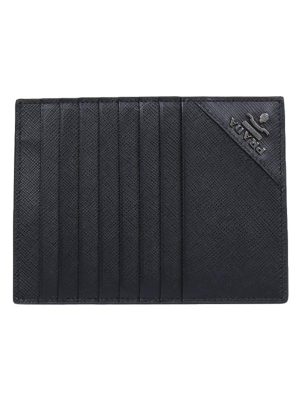 13255a9357a407 Prada Card Holder In Black | ModeSens