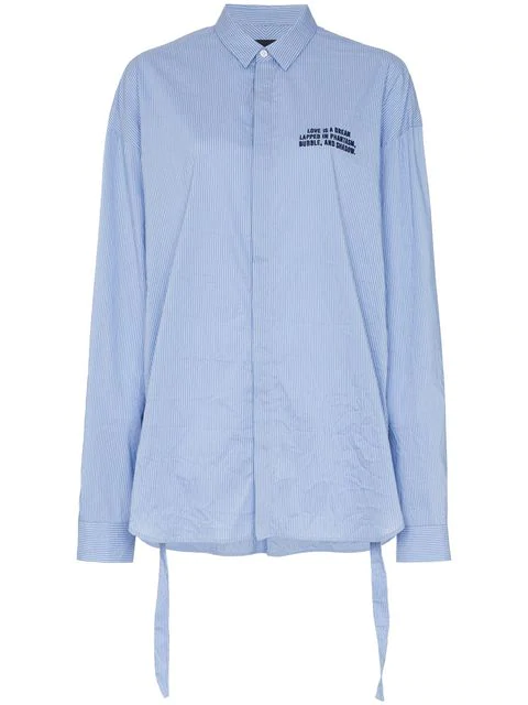 Juun.j Classic Button Embroidered Shirt In Blue