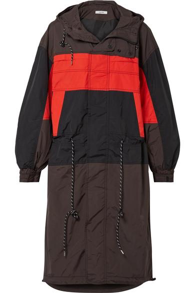 94c2f079ef6 Ganni Hooded Color-Block Shell Jacket In Black