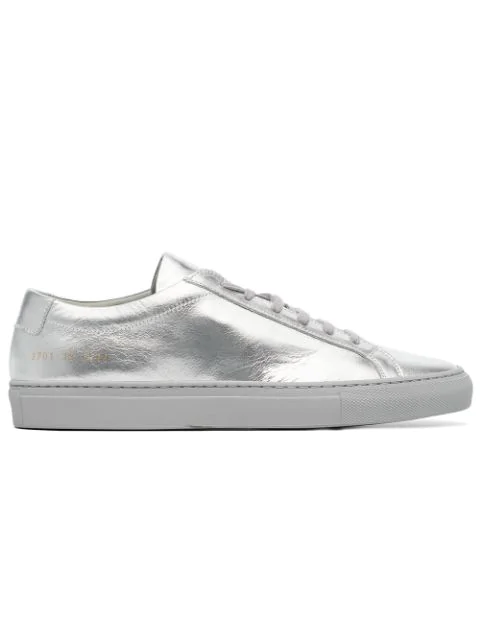 Common Projects Silver Original Achilles Low Sneakers