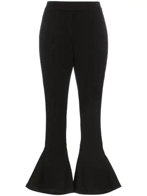 Beaufille Kick Flare Trousers In Black