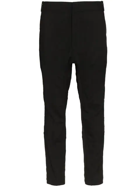 Haider Ackermann Low-rise Slim Trousers In Black