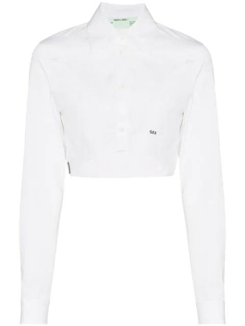 Off-white Cropped Shirt In White