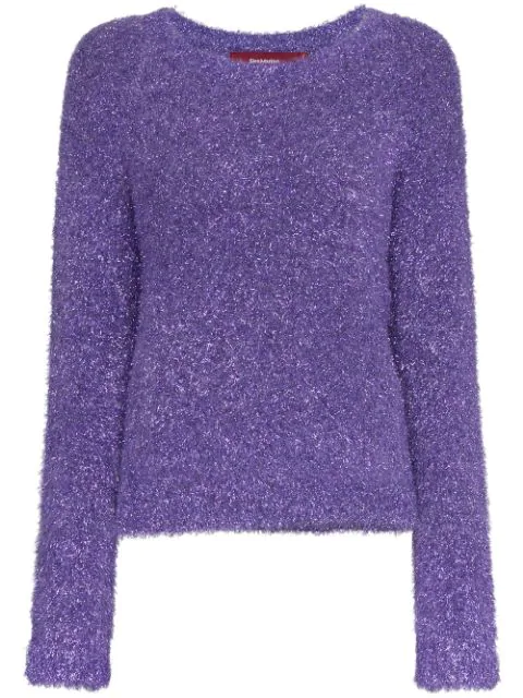 9c289d957f5 Sies Marjan Metallic Knit Jumper - Purple | ModeSens
