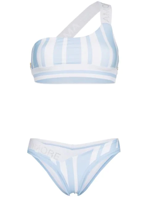 Ambra Maddalena Amore Mio One Shoulder Bikini - Blue