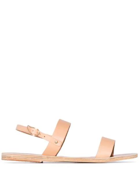 Ancient Greek Sandals Clio Double Strap Sandals Brown