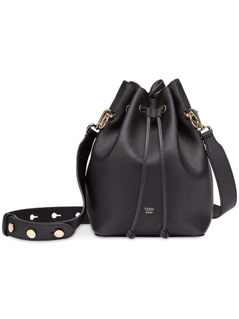 Fendi Black Mon Tresor Bucket Bag