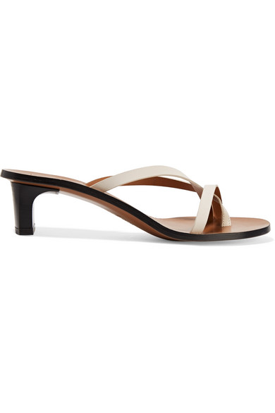 Atp Atelier Toma Leather Sandals In White