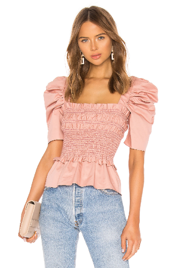 bd87b3d52d72be Amanda Uprichard Marisol Top In Dusty Rose