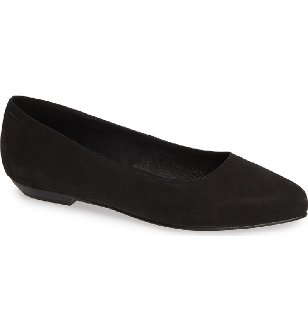 7d5453b1b96 A gently pointed toe adds to the essential appeal of this low-profile flat  in soft nubuck leather. Style Name  Eileen Fisher Jil Flat (Women).