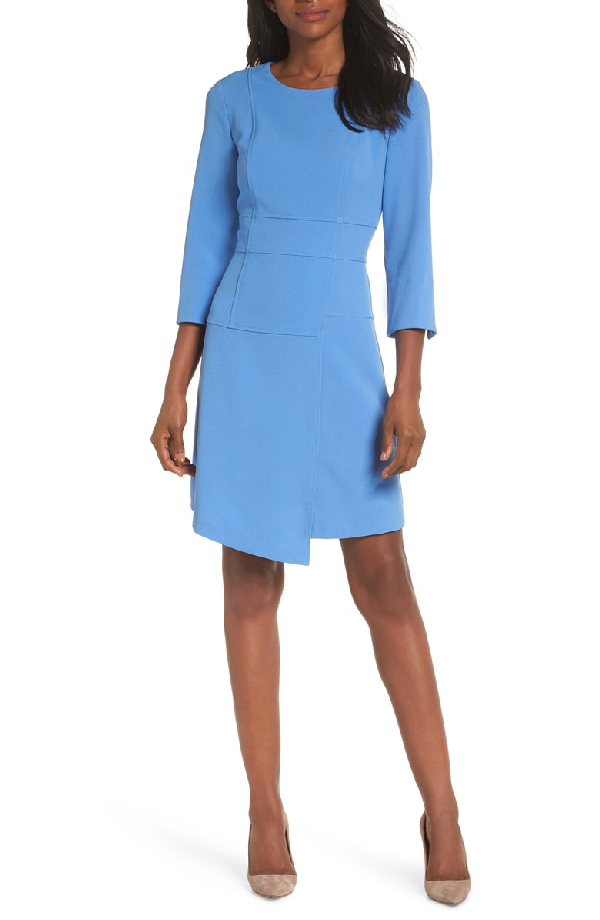 859d3b845577 Vince Camuto Crepe A-Line Dress In Blue Bell