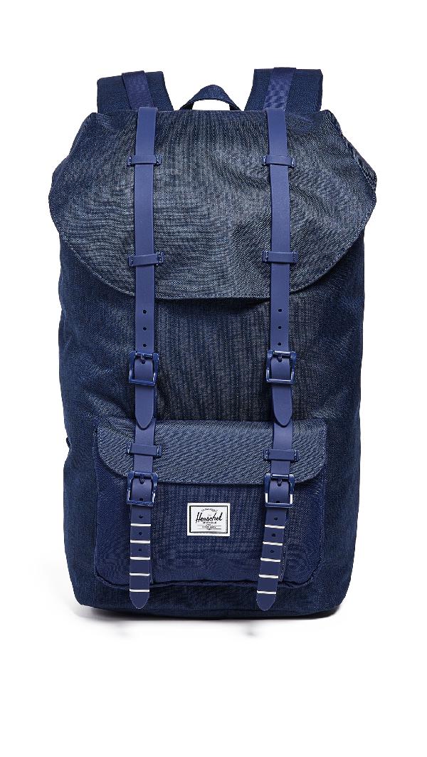 aa51c4ff500 Herschel Supply Co. Little America Backpack In Medieval Blue Crosshatch