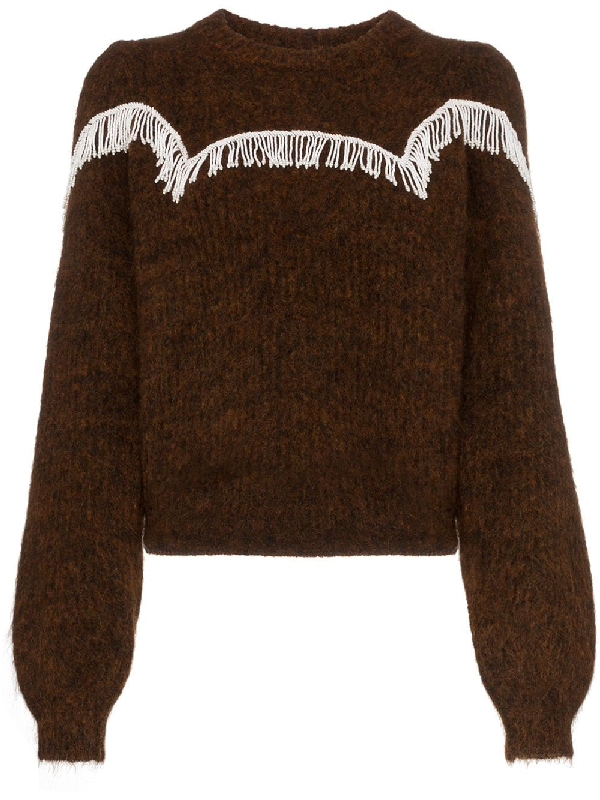 89068764f9 Ganni Heavy Soft Wool Knit Puff Sleeve Pullover In Brown | ModeSens