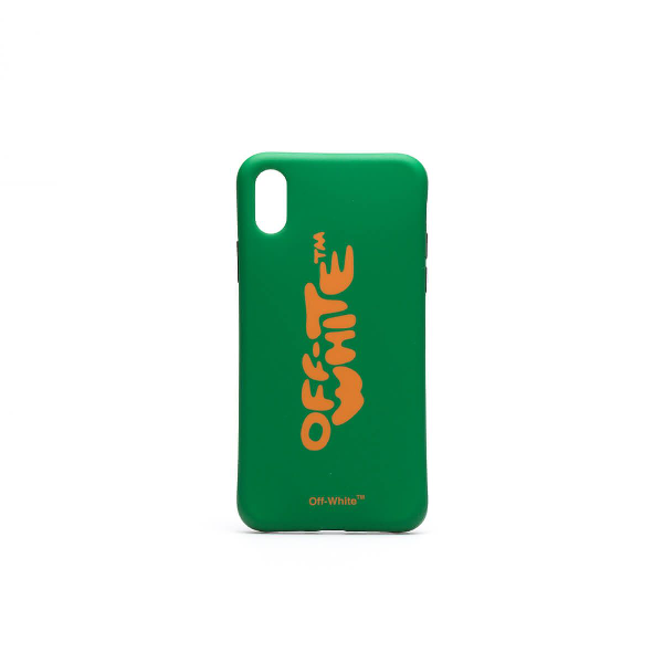 a0f0c7e156ef Off-White Iphone X Bubble Font Case In Green