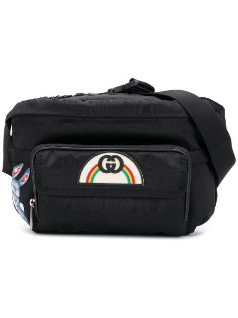 74bfc324bc3ee9 Gucci Black Tenebre Logo Patch Belt Bag In 1058 Black | ModeSens