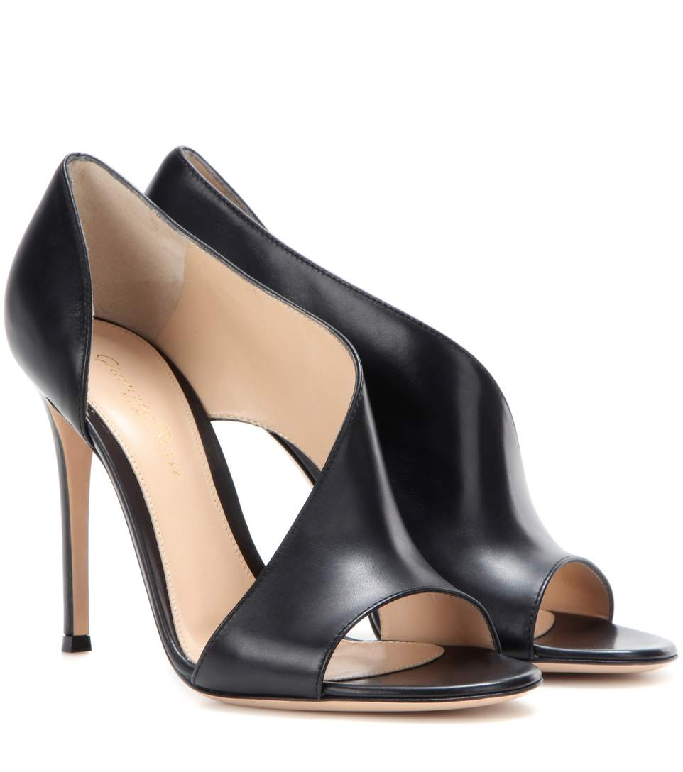 cbc5a5ee8f Gianvito Rossi Demi Leather Heeled Sandals In Black | ModeSens