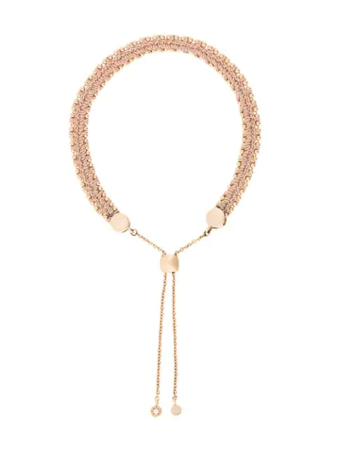 Astley Clarke Kula Biography 18Ct Rose-Gold Peach Woven Bracelet In Rose Vermeil