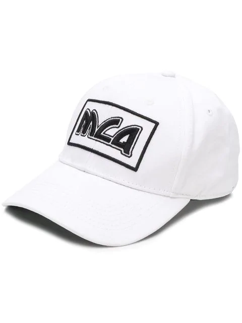 Mcq By Alexander Mcqueen Mcq Alexander Mcqueen White Embroidered Metal Logo Cap In 9061 Wht/Bk