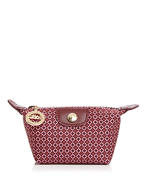 Longchamp Le Pliage Dandy Coin Purse In Fig/Gold