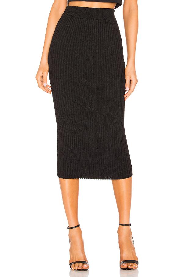 Eleven Six Eva Sweater Skirt In Black.