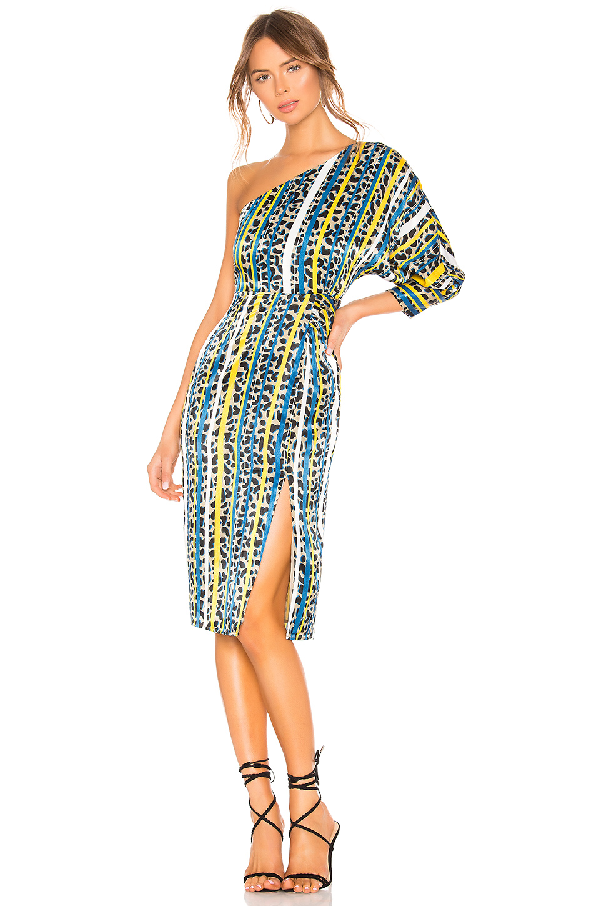 House Of Harlow 1960 X Revolve Arlen Dress In Yellow. In Yellow Leopard Stripe